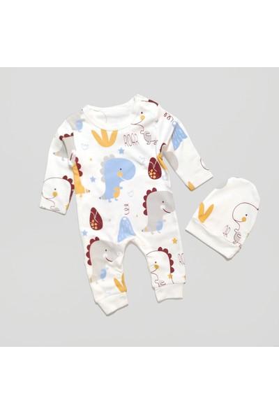 By Murat Baby Dinozor Ayrıntılı Şapkalı Bebek Tulum