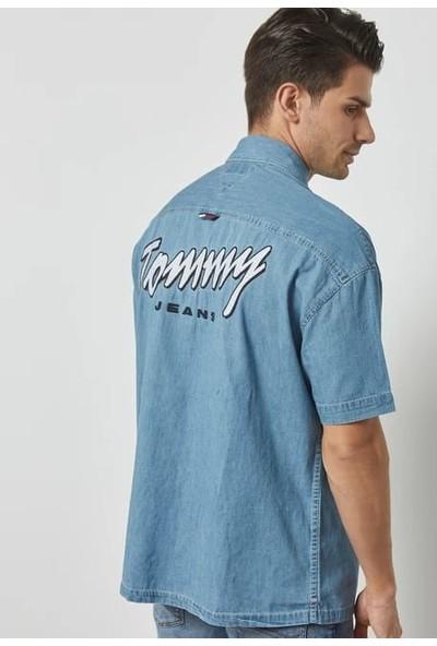 Tommy Hilfiger DM0DM04807412 U001963 Erkek Gömlek Mavi