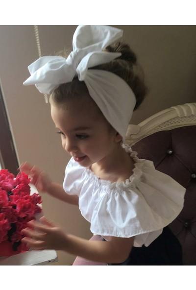 Özge Başaran Bebek ve Çocuk Fiyonklu Saç Bandana