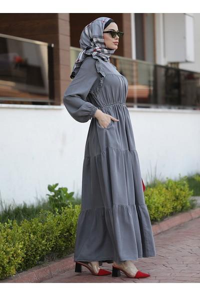 Neways Kadın Tensel Elbise Gri