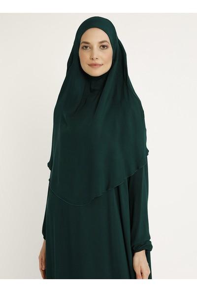 Ginezza Kadın Başörtülü Namaz Elbisesi Zümrüt