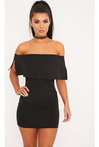 JT Özel Kesim Tarz Straplez Mini Elbise