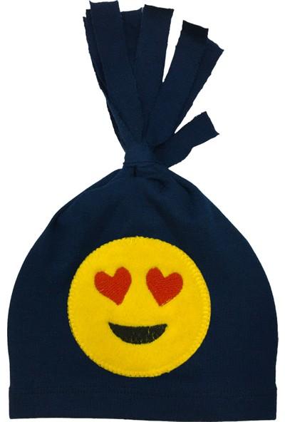 By Leyal For Kids Emoji Detaylı Penye Şapka