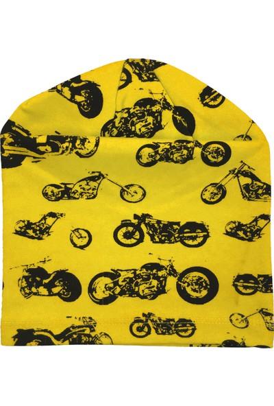 By Leyal For Kids Bisiklet Detaylı Penye Şapka