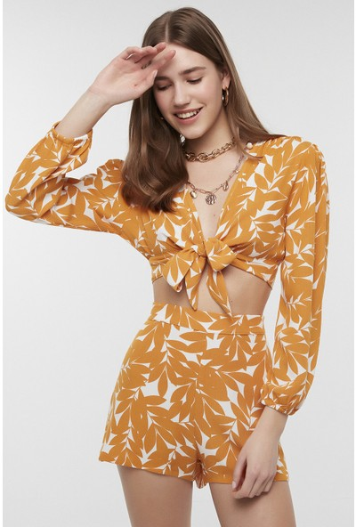 Penti Sarı Florita Tie Knot Bikini Üstü