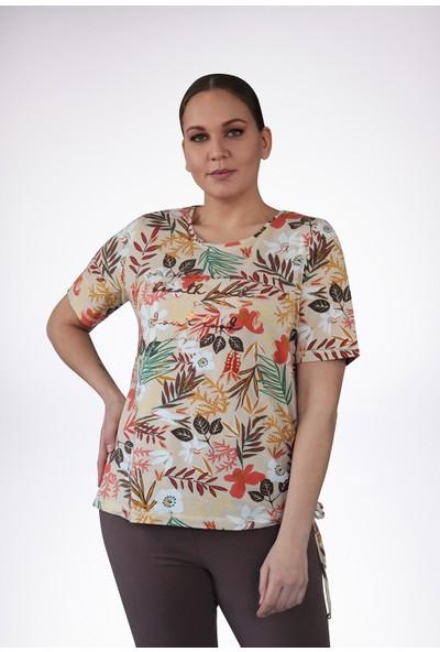 No Secret Büyük Beden Desenli T-Shirt