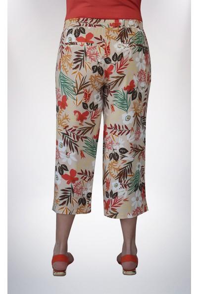 No Secret Büyük Beden Desenli Pantolon