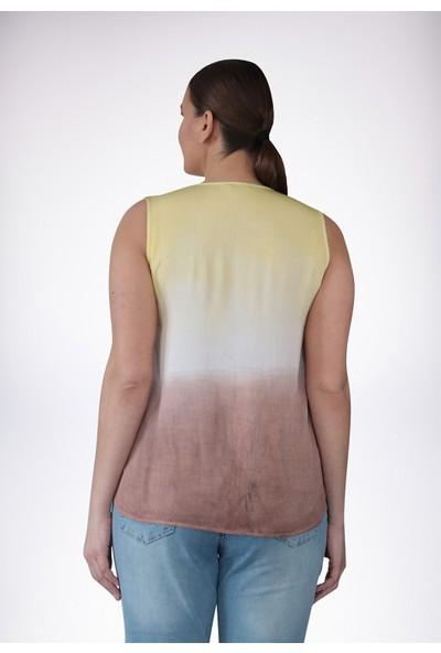 No Secret Büyük Beden Batikli Gömlek