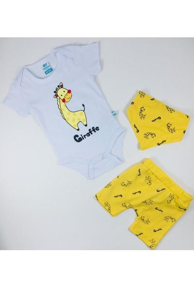 Nazar Bebe Sevimli Zürafa 3'lü Takım