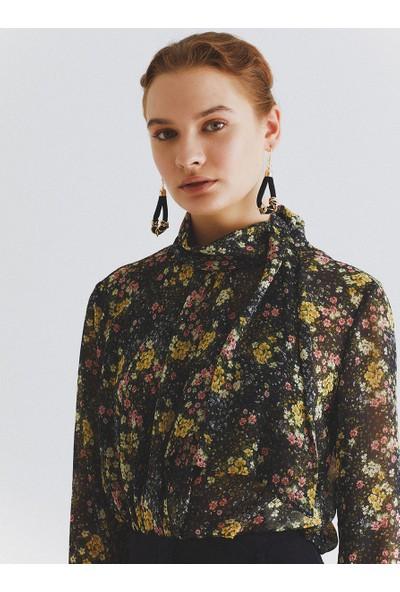 Roman Çiçek Desenli Bluz-K2013136-089