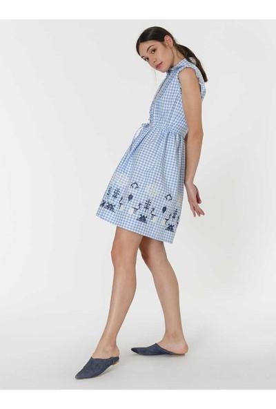 Roman Desenli Elbise