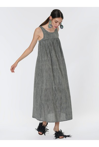 Roman Pamuklu Uzun Elbise-Y1965119-089