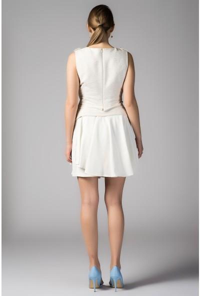 Roman Yaka Detaylı Elbise-Y1411219-050