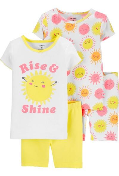Carter's Güneş 4'lü Bebek Şortlu Pijama Takımı