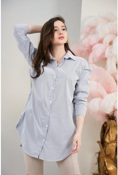 Morpi̇le Arkası Uzun Gömlek Tunik
