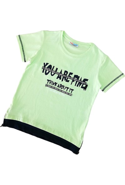 MACKAYS Erkek Çocuk Bisiklet Yaka T-Shirt