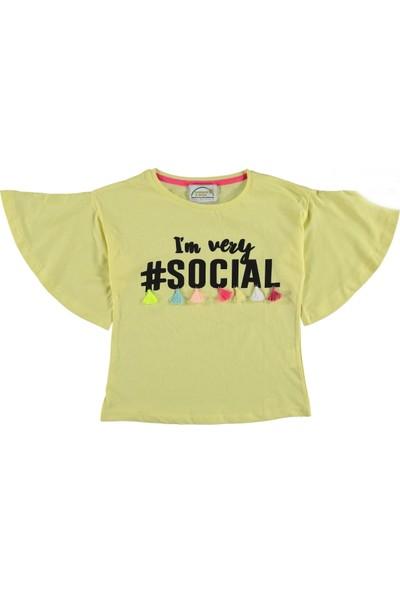 Via Girls Kız Çocuk Yarasa Kol T-Shirt