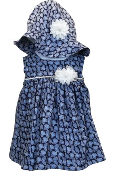 Capps Yazlık Kız Bebek Elbise Şapka Ikili Set