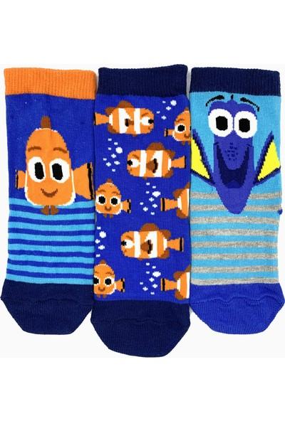 Egs Çocuk Balık Desenli Çorap 3 Çift
