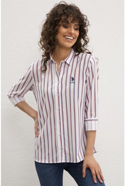 U.S. Polo Assn. Kadın Dokuma Gömlek 50219238-VR039