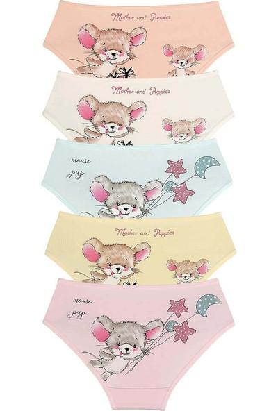 Donella 5'li Mouse Baskılı Kız Çocuk Külot - 4171BF-5LI