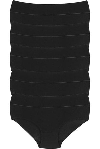 Donella 5'li Siyah Büyük Beden Kadın Külot - 1671Q-5LI