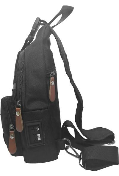 Solaksesuar 2213 USB Girişli Çapraz Çanta Bodybag