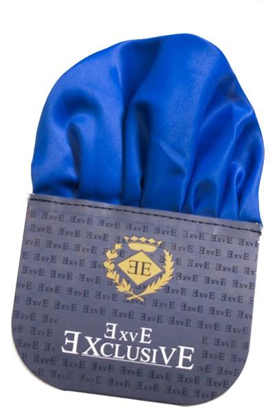 Exve Exclusive Saks Mavi Katlanmış Hazır Cep Mendili