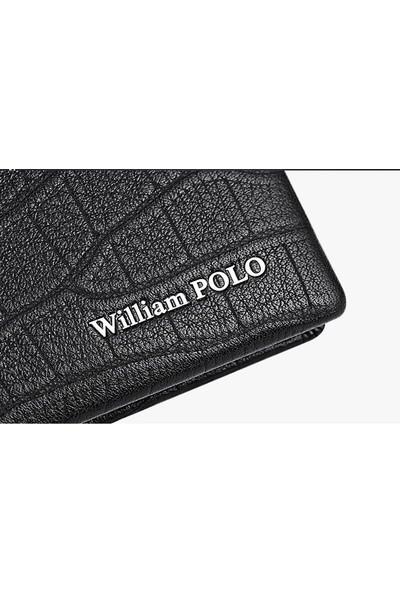 William Polo Deri Italyan Erkek Cüzdan Kartlık