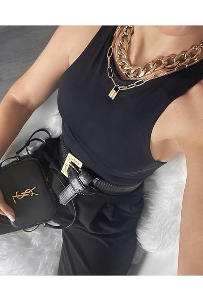 Moda Çelikler Siyah Bodysuit