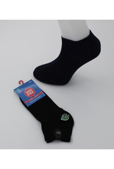 Socksbox 6'lı Bambu Terlemeyi Önleyen 200 Iğne Dikişsiz Siyah Erkek Patik