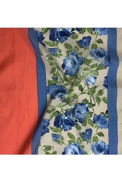 Duanil Kadın Çiçek Desen Rayon Çanta Aksesuar Fuları