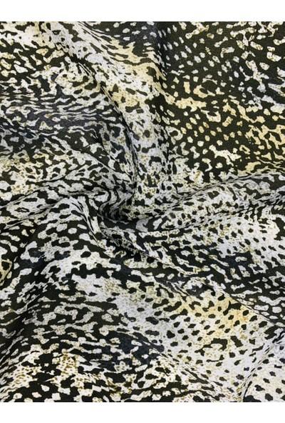 Duanil Kadın Desenli Krep Çanta Aksesuar Fuları
