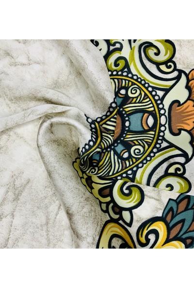 Duanil Kadın Desenli Rayon Çanta Aksesuar Fuları