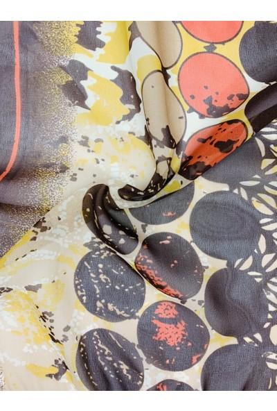Duanil Kadın Desenli Şifon Çanta Aksesuar Fuları