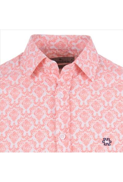 Gentilbay Geometrik Motif Baskılı Yavruağzı Dpd069 Pamuklu Spor Erkek Gömlek
