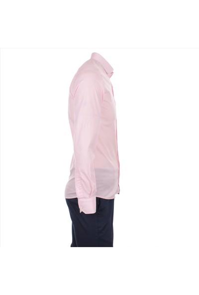 Gentilbay Takım Gant Zara Dufy Likralı Pembe Lcb001 Pamuk Spor Erkek Gömlek