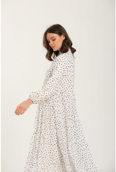 Terzi Dükkanı Puantiye Desen Kat Elbise