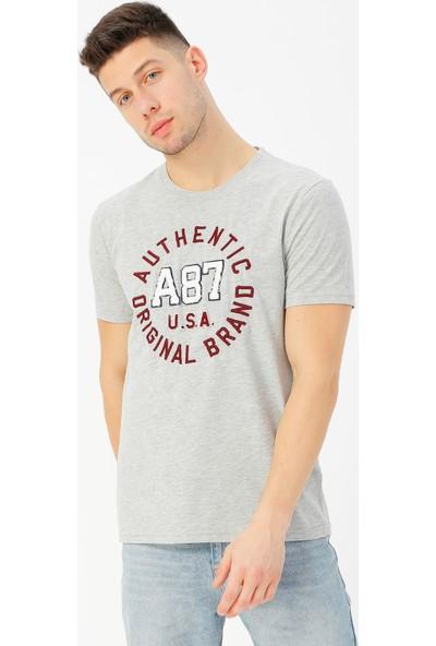 Aeropostale Erkek Bisiklet Yaka T-Shirt