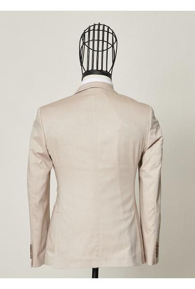 Altınyıldız Classics Erkek Ekstra Slim Fit Bej Takım Elbise