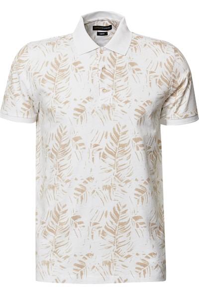 Altınyıldız Classics Polo Yaka Cepsiz Slim Fit Dar Kesim Koton Baskılı Tişört