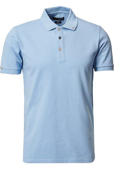 Altınyıldız Classics Polo Yaka Cepsiz Slim Fit Dar Kesim Koton Düz Tişört
