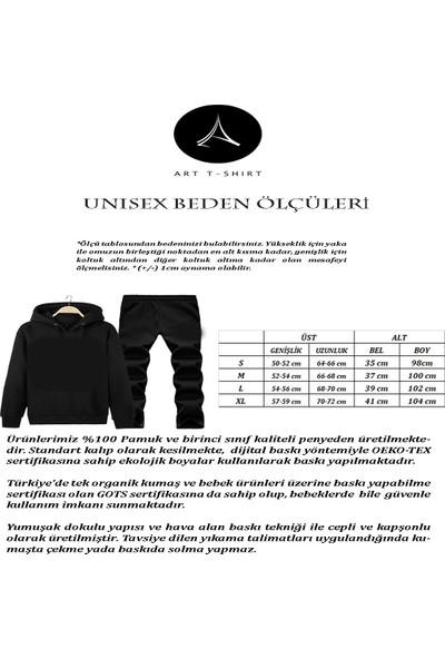 Art T-Shirt Dracarys Baskılı Tasarım Unisex Eşofman Takımı