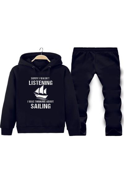 Art T-Shirt Sailing Love Baskılı Tasarım Unisex Eşofman Takımı