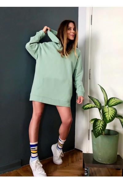 Ngstyle Kadın Oversize Kapüşonlu Sweatshirt