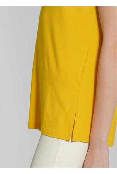 People By Fabrika Kadın Basic Viskon Tişört