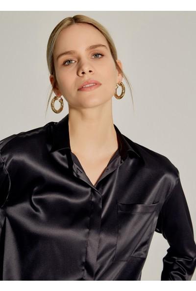Ngstyle Kadın Dökümlü Saten Gömlek