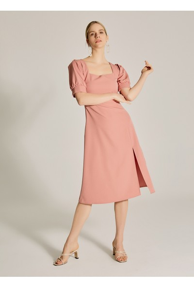 Ngstyle Kadın Balon Kol Midi Elbise