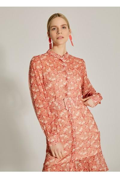 Ngstyle Kadın Çiçek Desenli Şifon Elbise