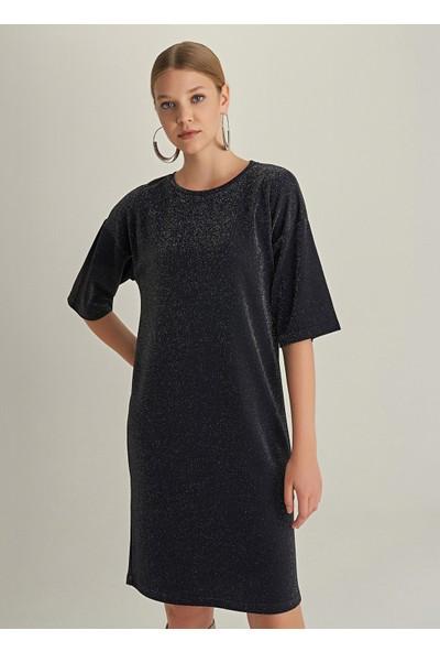 Ngstyle Kadın Simli Midi Örme Elbise